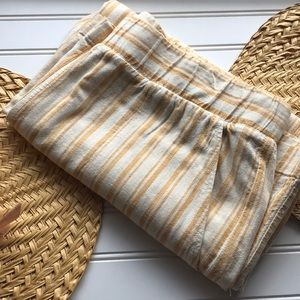 NWOT Cloth & Stone striped linen blend culottes